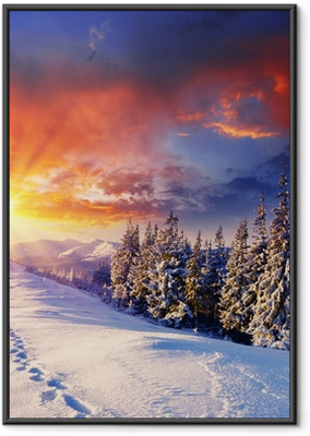 Gerahmtes Poster Winterlicher