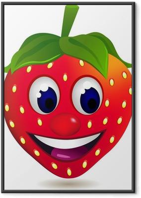 Ingelijste Poster Strawberry stripfiguur