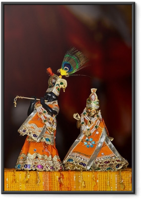 Ingelijste Poster Shri Shri Radha Krishna