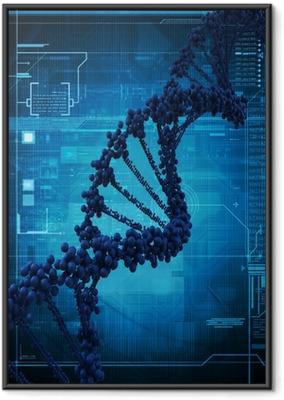 Ingelijste Poster Digitale illustratie van een DNA-