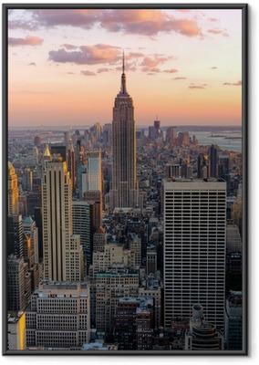 Ingelijste Poster New York Empire State Building