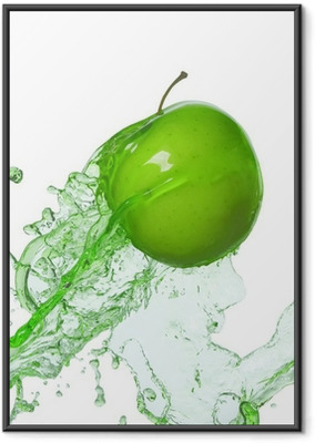 Póster com Moldura apple in stream