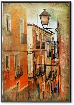 Ingelijste Poster Oude straten van Spanje - artistieke foto