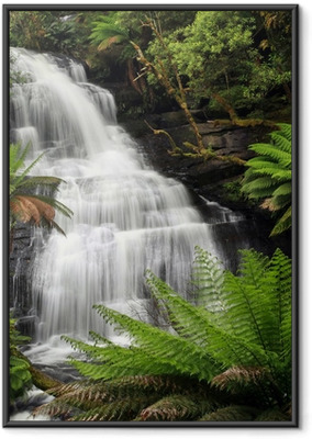 Rainforest Waterfall Framed Poster