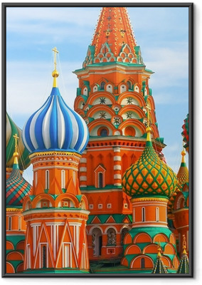 The Most Famous Place In Moscow, Saint Basil's Cathedral, Russia Framed Poster