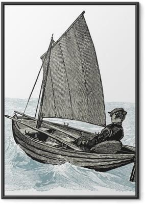Plakát v rámu Canot voálu