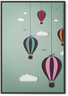 Plakat w ramie Balonów na ogrzane powietrze