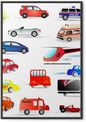 Gerahmtes Poster Kraftfahrzeuge - set