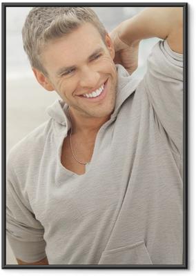 Póster com Moldura Male model smile