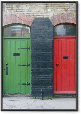 Gerahmtes Poster Außentüren, Irland
