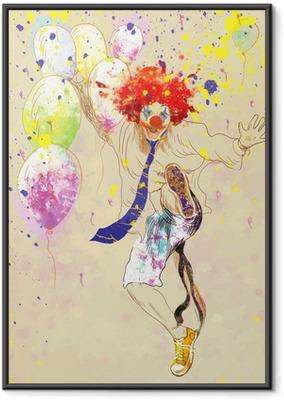 Ingelijste Poster Gelukkige clown