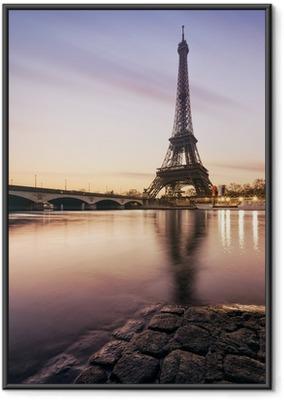 Poster in Cornice Tour Eiffel - Parigi - Francia