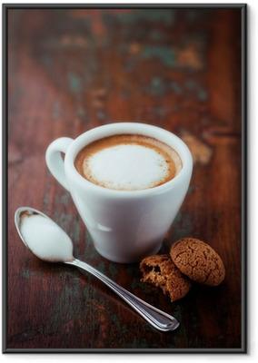 Gerahmtes Poster Cafe Macchiato (Espresso mit etwas Milch)
