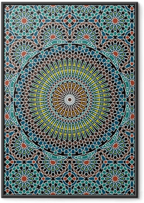 Poster in Cornice Rasile moresco Seamless Pattern