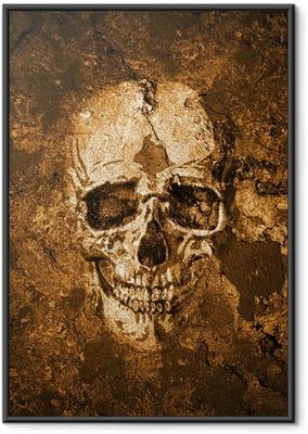 Totenkopf Hintergrund Framed Poster