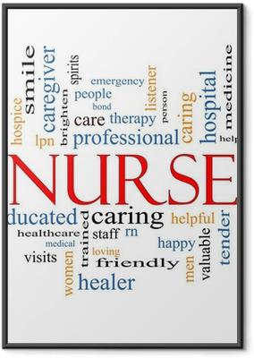 Nurse Word Cloud Concept Framed Poster