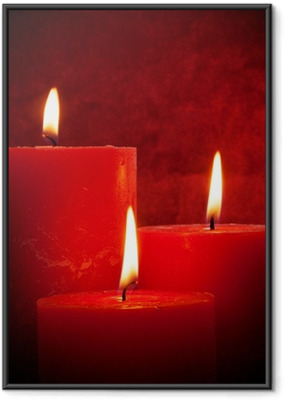 Poster in Cornice Lume di candela