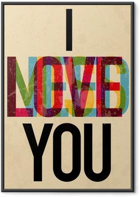 Poster en cadre Journée type texte calligraphique de la Saint-Valentin - iStaging 2