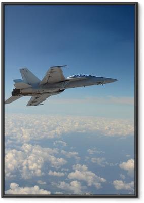 Gerahmtes Poster Jetfighter im Flug