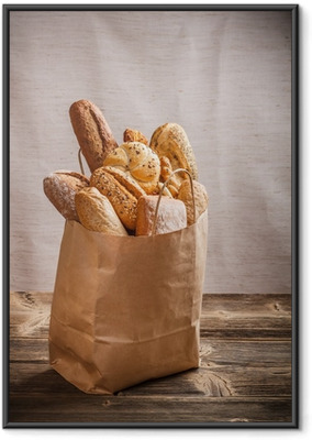 Poster en cadre Assortiment de produits de boulangerie