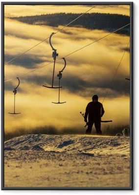 Gerahmtes Poster Ski resort