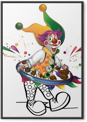 Poster en cadre Clown se peint