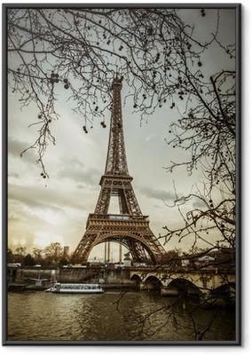 Ingelijste Poster Uitzicht op de Eiffeltoren