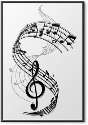 Abstract art music background Framed Poster