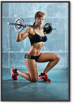 Young sports woman Framed Poster