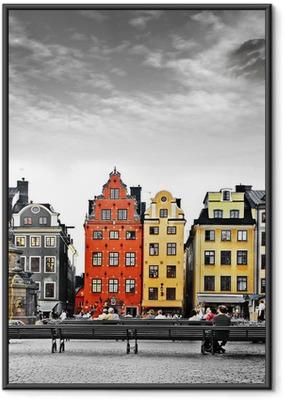 Stockholm, heart of old town, Framed Poster