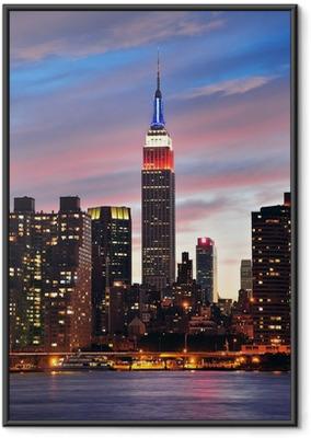 Empire State Building om natten Indrammet plakat