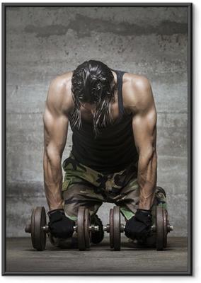 Ingelijste Poster Vermoeide spieren atleet