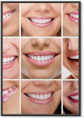 Poster in Cornice Denti collage di sorrisi di persone