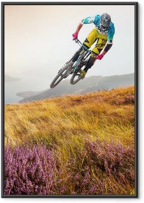 Innrammet plakat Biker og lago di Como