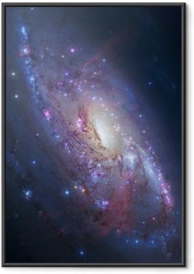 Gerahmtes Poster Spiralgalaxie im Weltraum. Elemente des Bildes von der NASA eingerichtet
