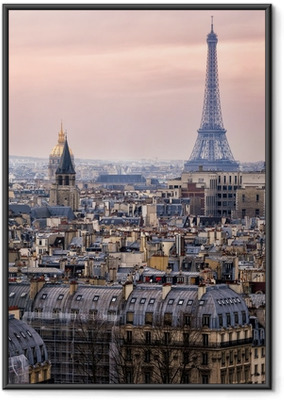 View of Paris and of the Eiffel Tower from Above Framed Poster