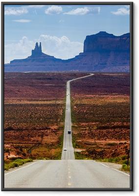 Gerahmtes Poster Straße zum Monument Valley