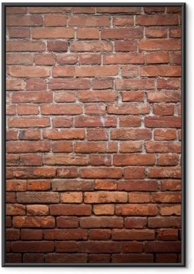 Gerahmtes Poster Alt Grunge rote Mauer Textur