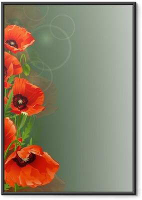 Poster in Cornice Poppy sfondo