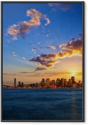 Plakat w ramie San Francisco Skyline o zachodzie słońca, Kalifornia, USA