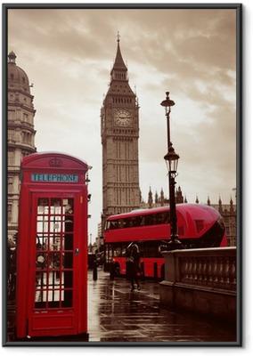 Gerahmtes Poster Londoner Straße