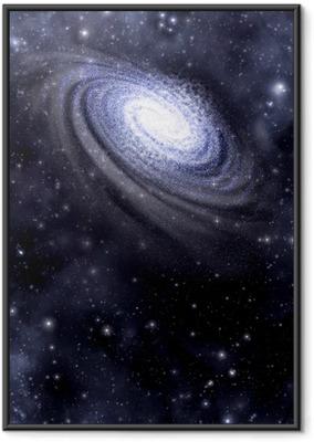 Ingelijste Poster Galaxy en Starfield achtergrond