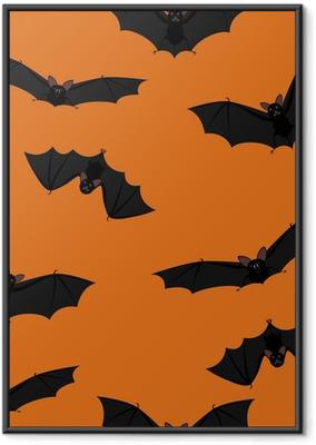Poster en cadre Vol des chauves-souris