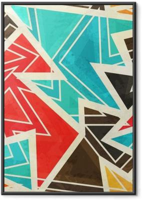 timeless design 99a6a f504d Poster in Cornice Giovani disegno geometrico senza soluzione di continuità  con effetto grunge