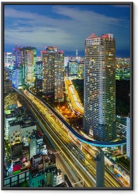 Poster en cadre Vue aérienne des gratte-ciel de Tokyo, Minato, Japon