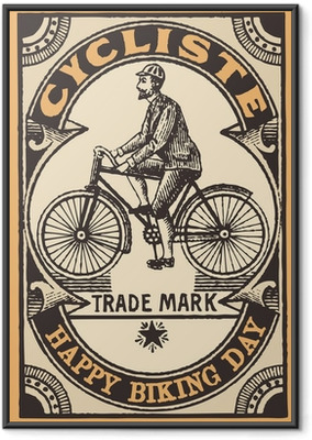 Ingelijste Poster Le cycliste