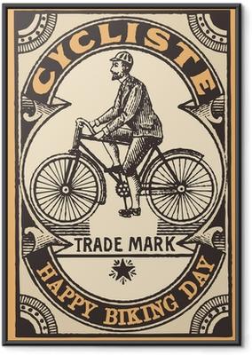 Poster en cadre Le cycliste - Sur la route