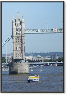 Gerahmtes Poster Tower Bridge und Touristenboote