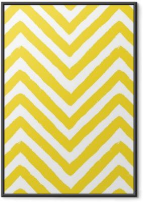 Gerahmtes Poster Vektor Chevron gelb nahtlose Muster