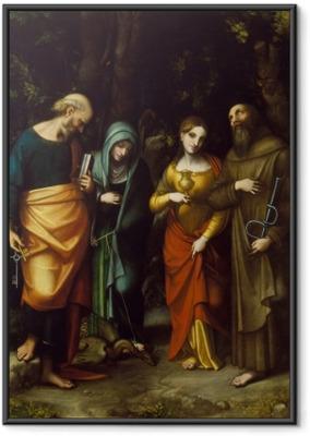 Gerahmtes Poster Saints Peter, Martha, Mary Magdalen, and Leonard